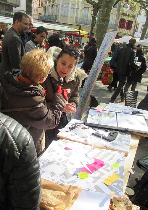 Recherche-action de Peuples des villes à Pamiers (Ariège)